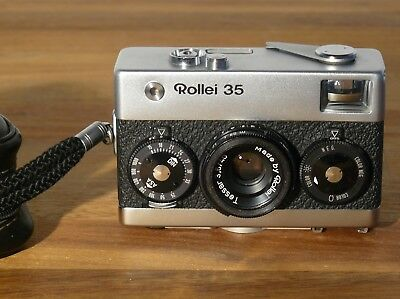 Rollei 35 mit Tessar 3,5 / 40 mm Made by Rollei in Singapore