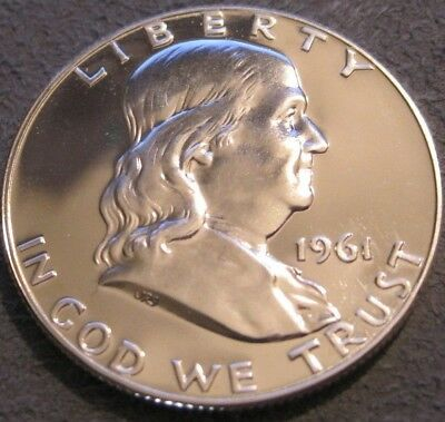 1961 P Franklin Half Dollar // Bu/unc Proof // Bright White Finish // Mc 822