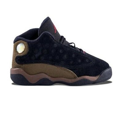 Infant (TD) Air Jordan 13 Retro Black/True Red-Light Olive 414581-006