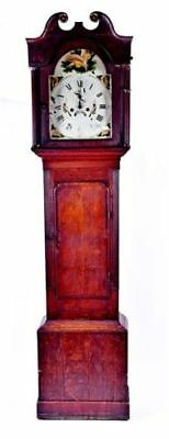 Antique Genuine 8 Day Longcase Hand Painted Country Grandfather Clock