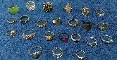 "LARGE Estate vintage to modern Lot of Jewelry  Junk drawer. "" All Rings"""