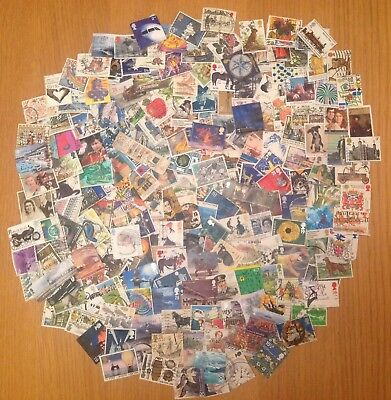 200 GB Different Commemorative Stamps Off Paper all Decimal FREE POSTAGE     A