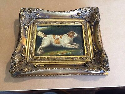 CARVERS AND GILDERS Reproduction Oil Painting Of A Spaniel Dog In A ...
