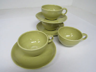 7 PC Russel Wright Iroquois Casual China Avadaco Tea Cup & Saucers - Exc