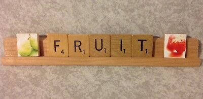 "Scrabble Tile Art for ""Fruit"""