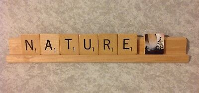 "Scrabble Tile Art for ""Nature"""