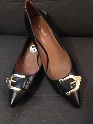 Nine west Womens Size 9 1/2 Black Low Heel Shoes