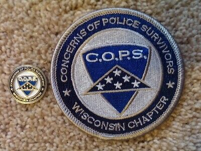 Wisconsin Police Patch & Pin,concerns Of Police Survivors, Cops Honor The Fallen