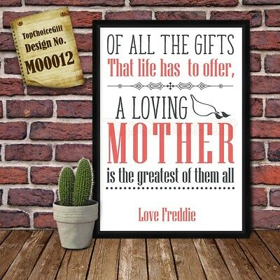 Life Gift - Mother's Day Personalised Present Print greeting poster gift card