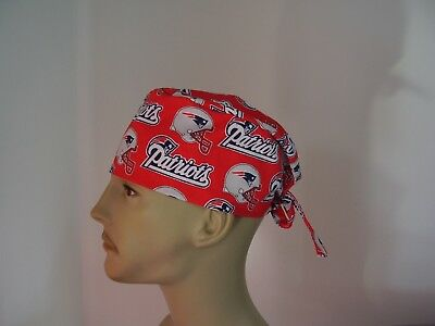 Surgical Scrub Hat/Cap -NFL-NEW ENGLAND PATRIOTS (red) - One size- Men Women
