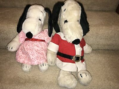 "Vintage 1968, Belle and Snoopy from The Peanuts Gang, stuffed animal, 16""/19"""