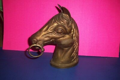 RARE Vintage Solid Brass Bronzed Horse Head
