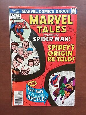 Marvel Tales #75 (1977) 6.0 FN Spider-Man The Bettle Bronze Age Marvel Comic Key