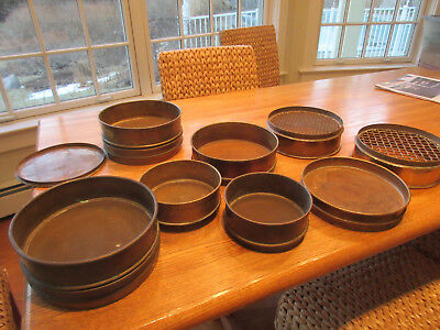 Collectible vintage standard lab ore sieves