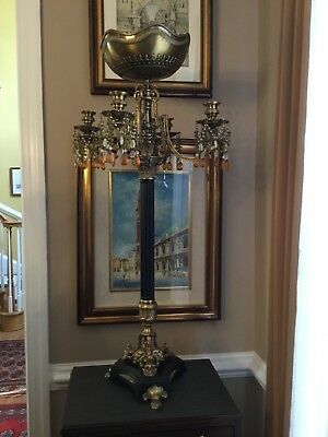 A beautiful designed French Baroque Candelabra (35 inches x 19 inches)