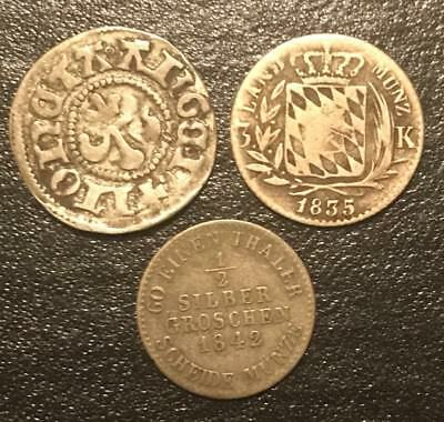 German States Old Silver Coins 1500's - 1800's
