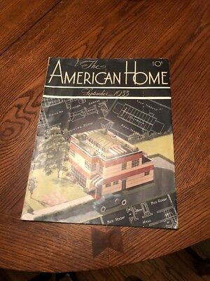 VINTAGE AMERICANA The American Home Magazine September 1933 FREE SHIPPING