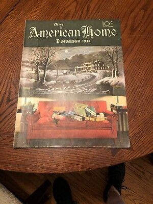 VINTAGE AMERICANA The American Home Magazine December 1934 FREE SHIPPING