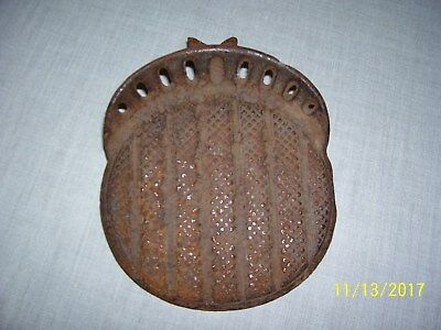 Antique CAST IRON Round STEP FOOT REST Buggy Wagon Stagecoach Carriage