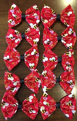 10 Wholesale Large Bumble Bee Valentine Hair Bows **Made in the USA **