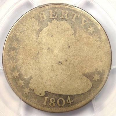 1804 Draped Bust Quarter 25C - PCGS FA2 (FR2) - Rare Key Date - $1,750 Value!
