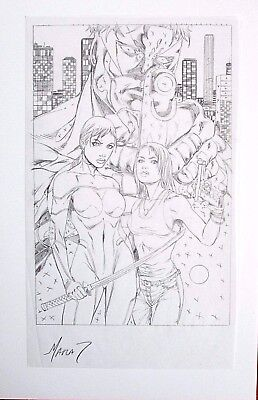 "BLINDSIDE MARAT MYCHAELS ORIGINAL ART SIGNED 5.5X9"" Grimm Fairy Tales Notti Nyce"
