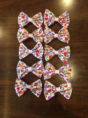 10 Wholesale Medium Valentine Hair Bows **Made in the USA **