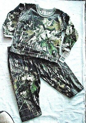 NEW MOSSY OAK Camo set 1 for $7, 2 for $8.50  Size 9M 24M cott/bl knit L/S USA