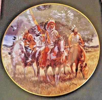 The Bradford SOULFUL REFLECTION FOOTSTEPS OF BRAVE INDIAN HORSE COLLECTOR PLATe