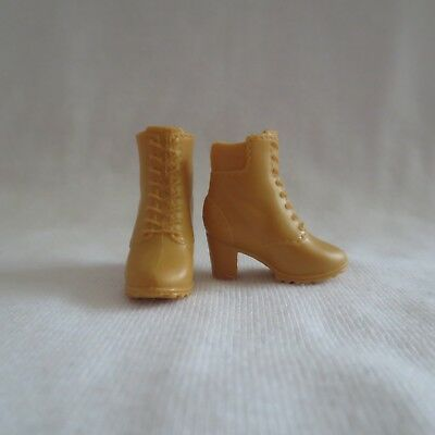 NEW! 2018 Barbie Fashionista Doll Tan Work Boots Curvy Tall High Heel Shoes