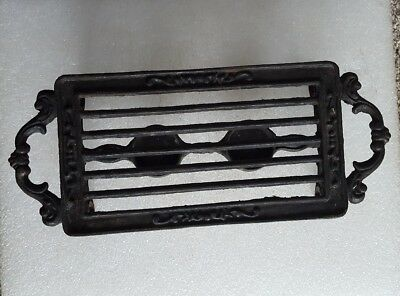 Small Vintage CAST IRON CHAFING RACK / DOUBLE BURNER CANDLE VOTIV