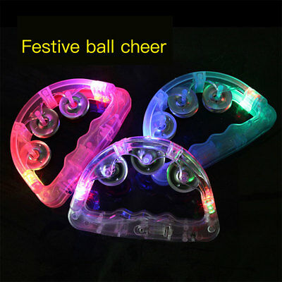 Light-Up Tambourine Flash Bell Toy Flashing Tambourine D Shaped Bell Creative