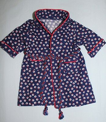 America Girl Doll Molly Bath Robe Blue Nautica  Pleasant Company EUC