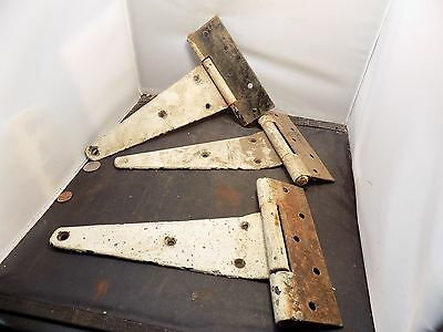 Vintage Cast Iron Hinges Farm Barn Door Hinge Antique Great Patina