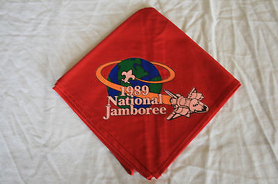 BSA BOY SCOUT OF AMERICA Neckerchief /Patch1989 National Jamboree Space Shuttle
