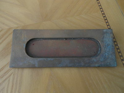 Reclaimed Vintage Old Brass Letter Box dimensions in photos