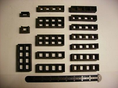 Assorted Letterpress Chase Furniture Spacers 15 Pieces