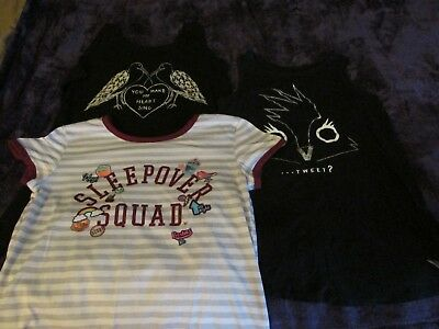Girls Size 14 Tops Shirts Lot of 4 Justice Old Navy Girls Large L NWOT Tank T XL