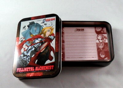 Fullmetal Alchemist Tin Can Case with Notepad