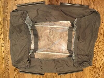 Graco Pack N Play Replacement BASSINET MESH INSERT Quilted Sides with Poles!