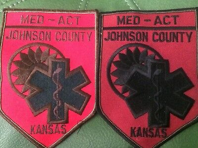 2 Johnson Co Med-Act - Kansas Fire  Patch
