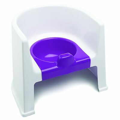 The Neat Nursery Co. Child / Kids Potty Training Chair - White / Plum