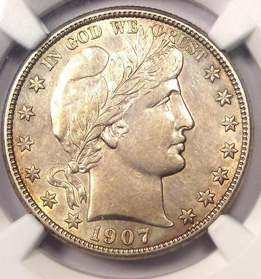 1907-O Barber Half Dollar 50C - NGC AU Details - Rare Date - Certified Coin