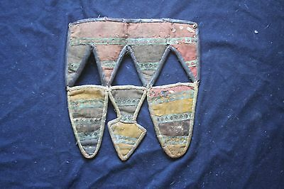 Old Cloth and leather pannel from North Africa. possibly of Yoruba make