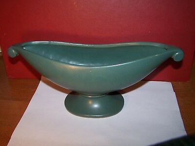 Vintage McCoy Pottery Aladdin Planter Dark Olive green Matt finish