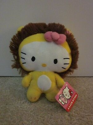 Hello Kitty Circus Plush Lion with tag - Fiesta brand - yellow with brown mane