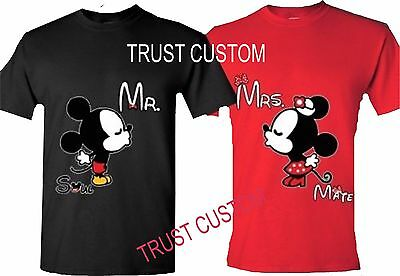 Mickey And Minnie Disney Soul Mate Couples Matching Funny Cute T Shirts Love New