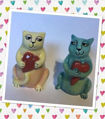 CERAMIC CAT SALT AND PEPPER SHAKERS New