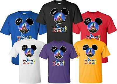 FAMILY VACATION Disney New 2019 T-Shirts WITH CUSTOM NAMES Mickey & Minnie