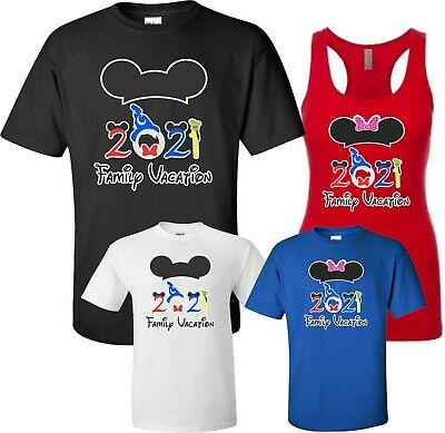 83664e90 Disney FAMILY vacation Minnie MICKEY Mouse Customized T-shirt MY FIRST TRIP  2019